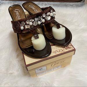 Grazie Giada croco embellished sandals
